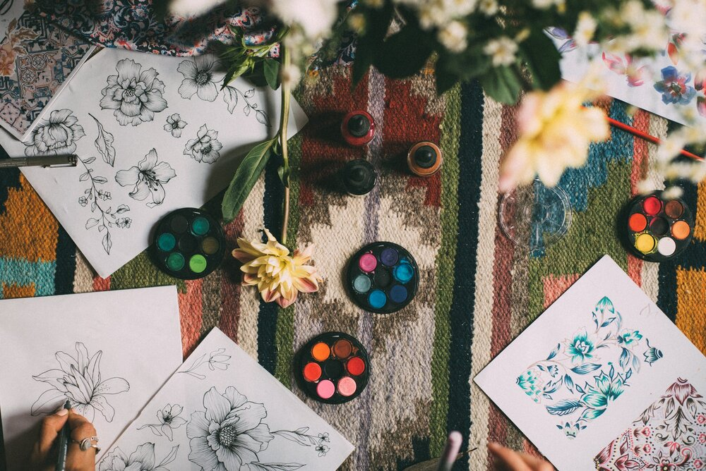 mandalas de colores de la flor de loto