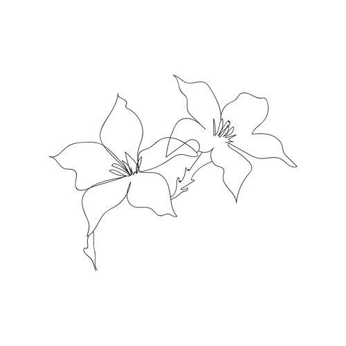 flor de loto dibujo simple