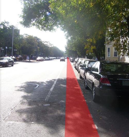 Avoid riding inred 'door zone'!