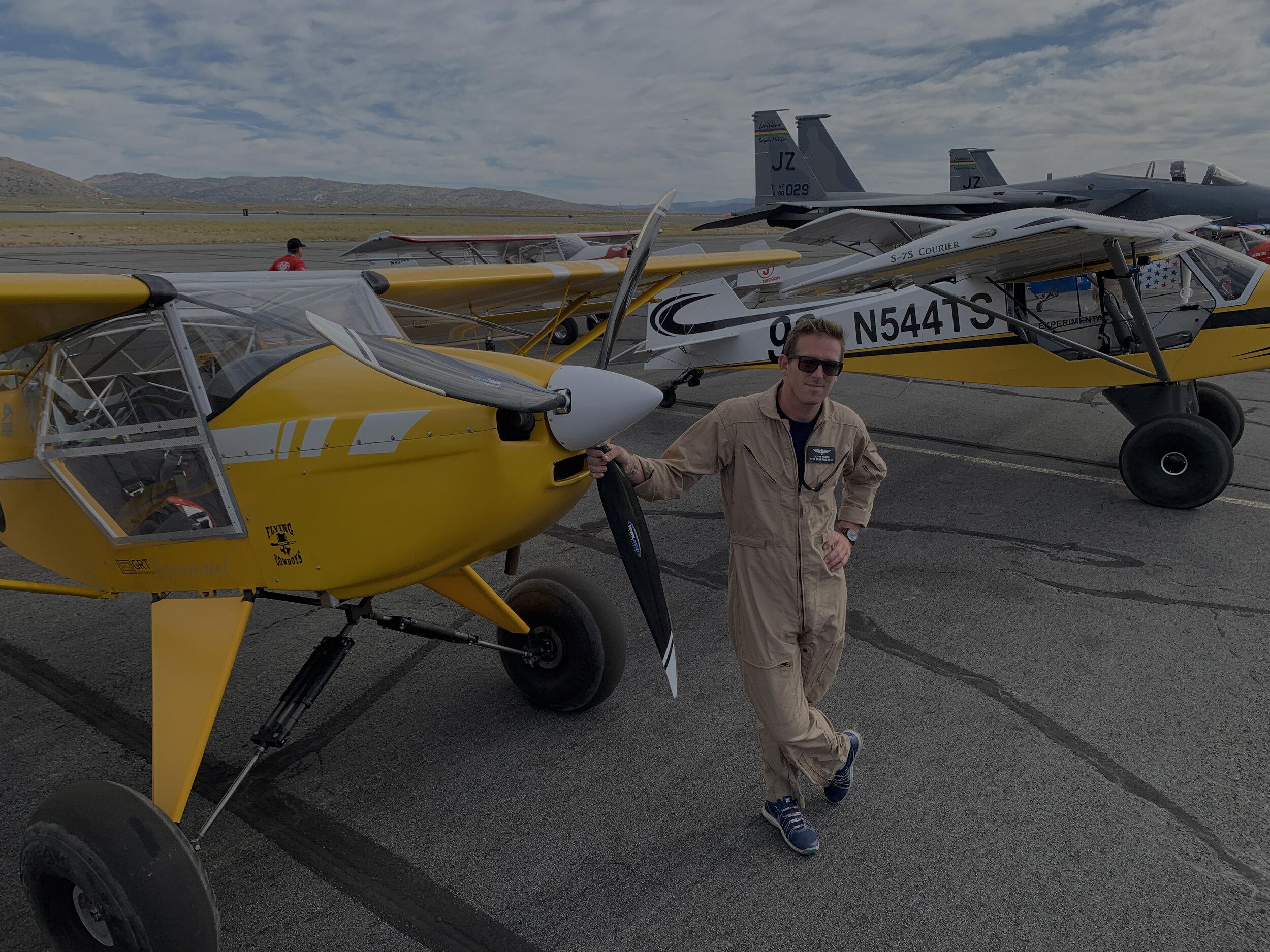 Scott Palmer with his Kitfox