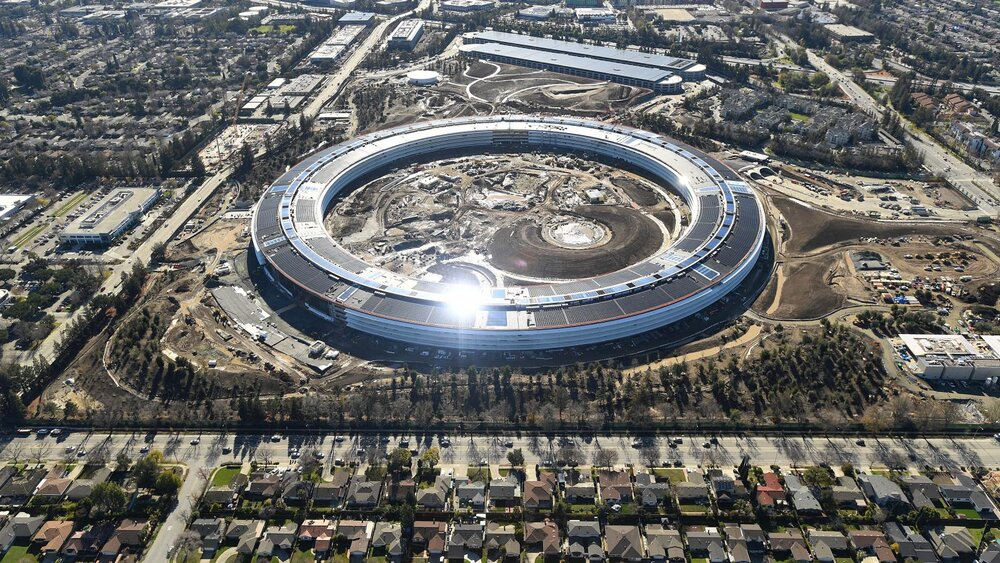 The Apple campus, it literally gleams