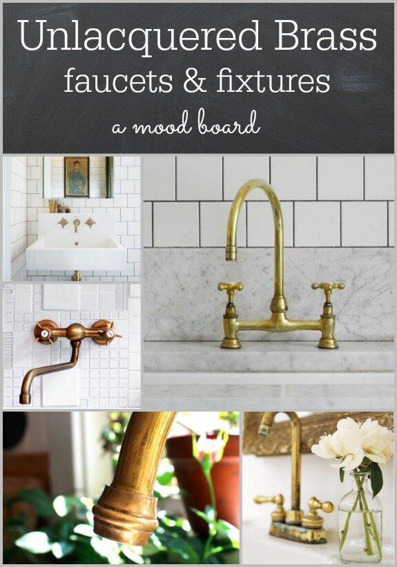 Unlacquered Brass A Living Finish, Unlacquered Brass Bathroom Faucet