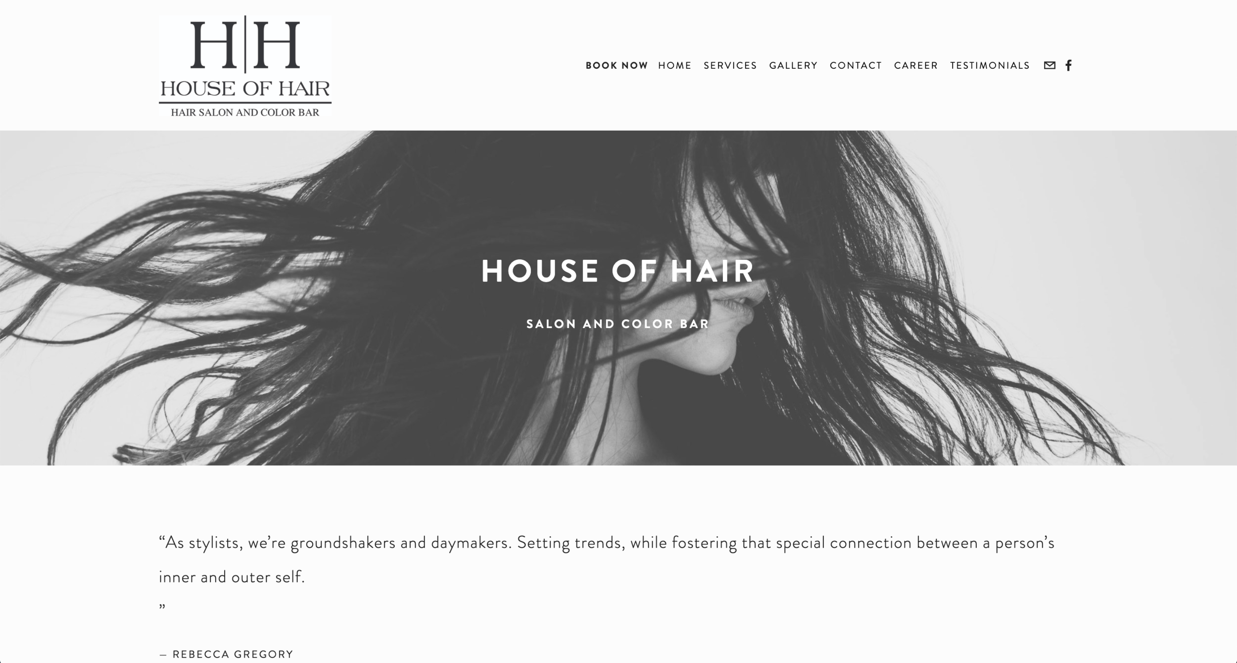 House of Hair - Emily R. Fitzgibbon, LLC - Web Design