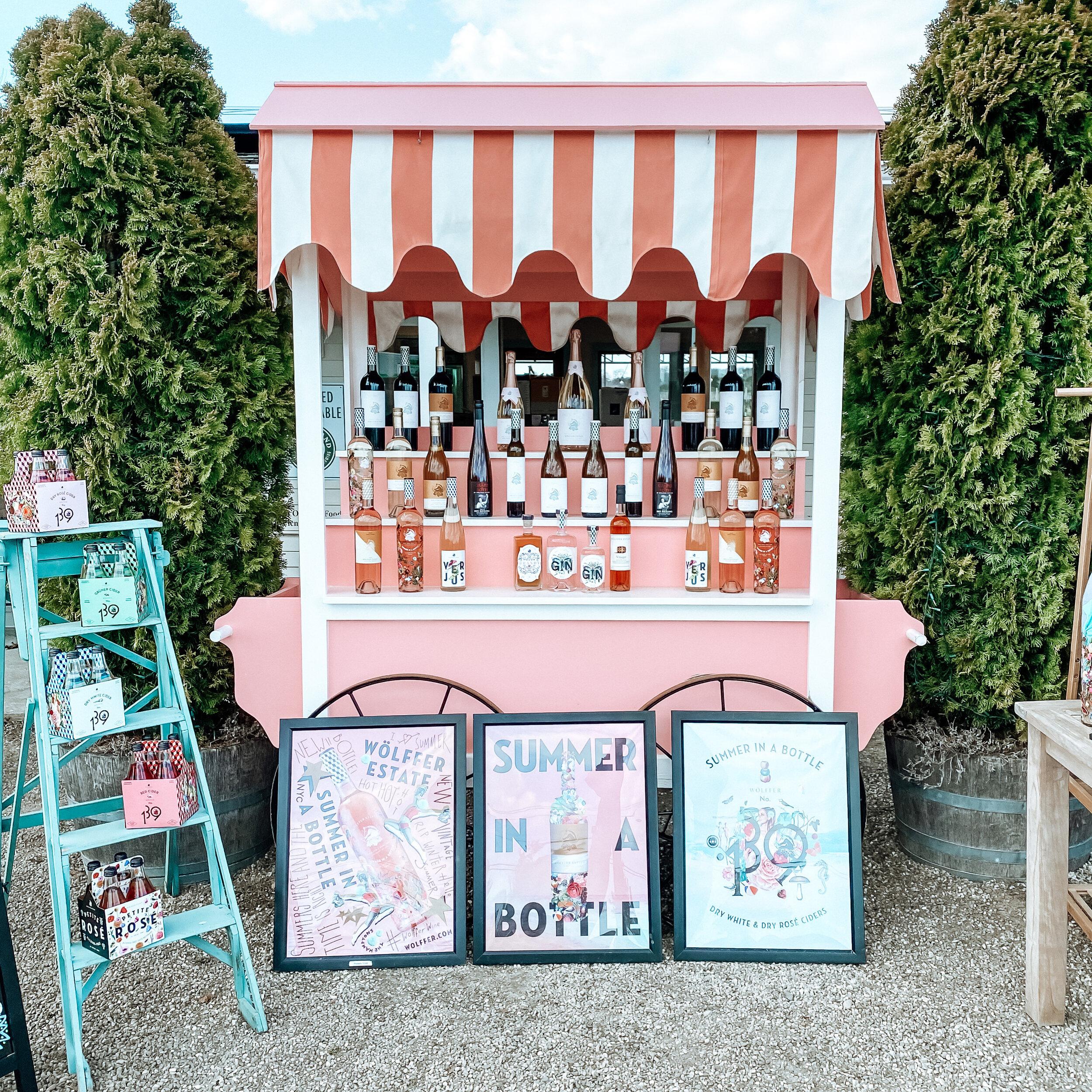 wolffer estate wine stand ⌁ SAGAPONACK, ny -