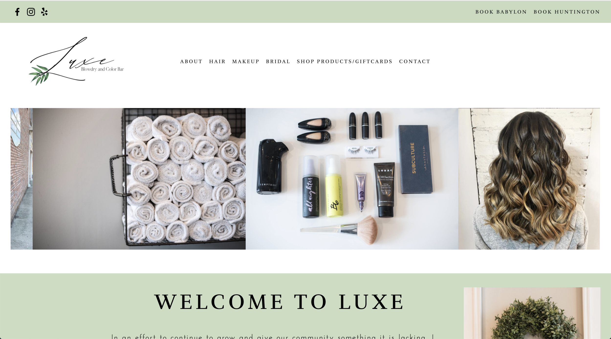 Luxe Blow Dry Bar - Emily R. Fitzgibbon, LLC - Web Design