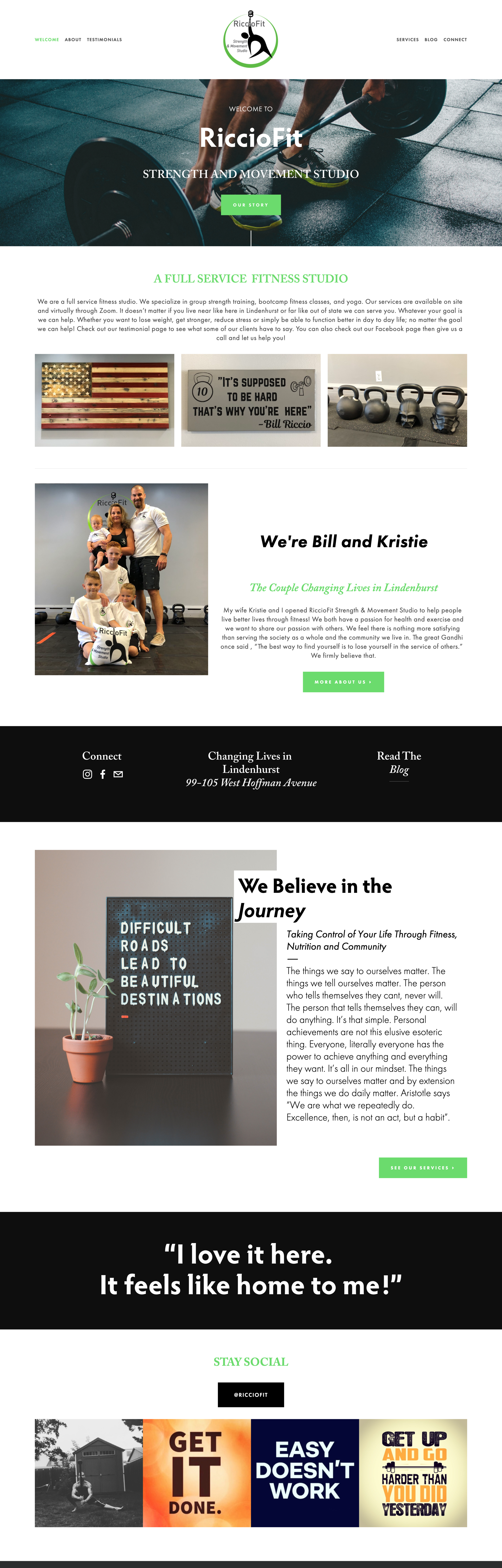 Riccio Fit - Emily R. Fitzgibbon, LLC - Web Design