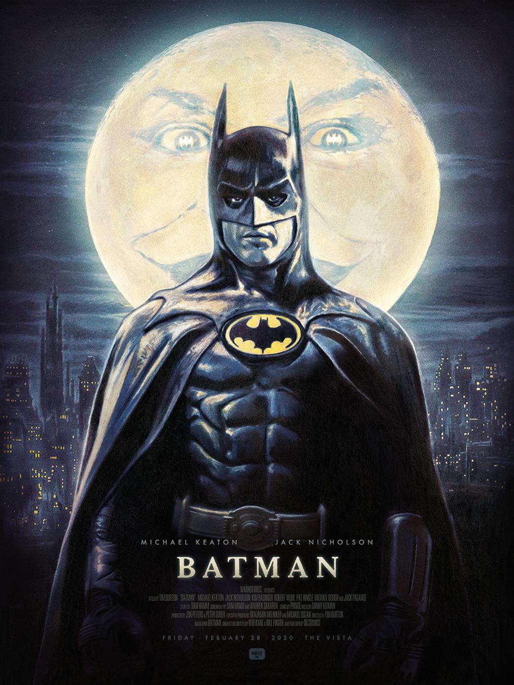 Batman 1989 Burton Movie Poster Secret Movie Club
