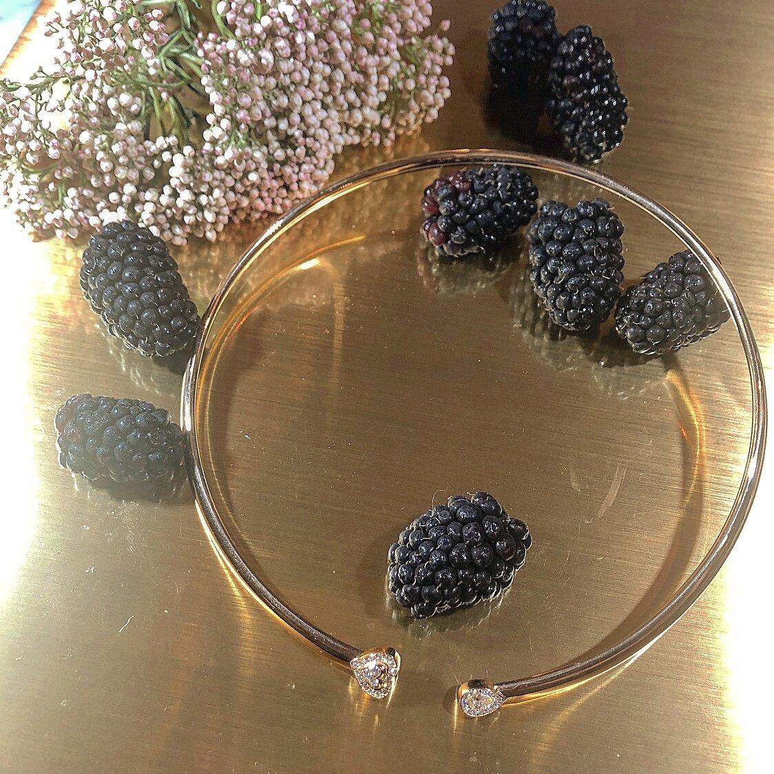 Matthia's & Claire 18K Rose Gold & Diamond Heart Cuff Necklace, $7,395