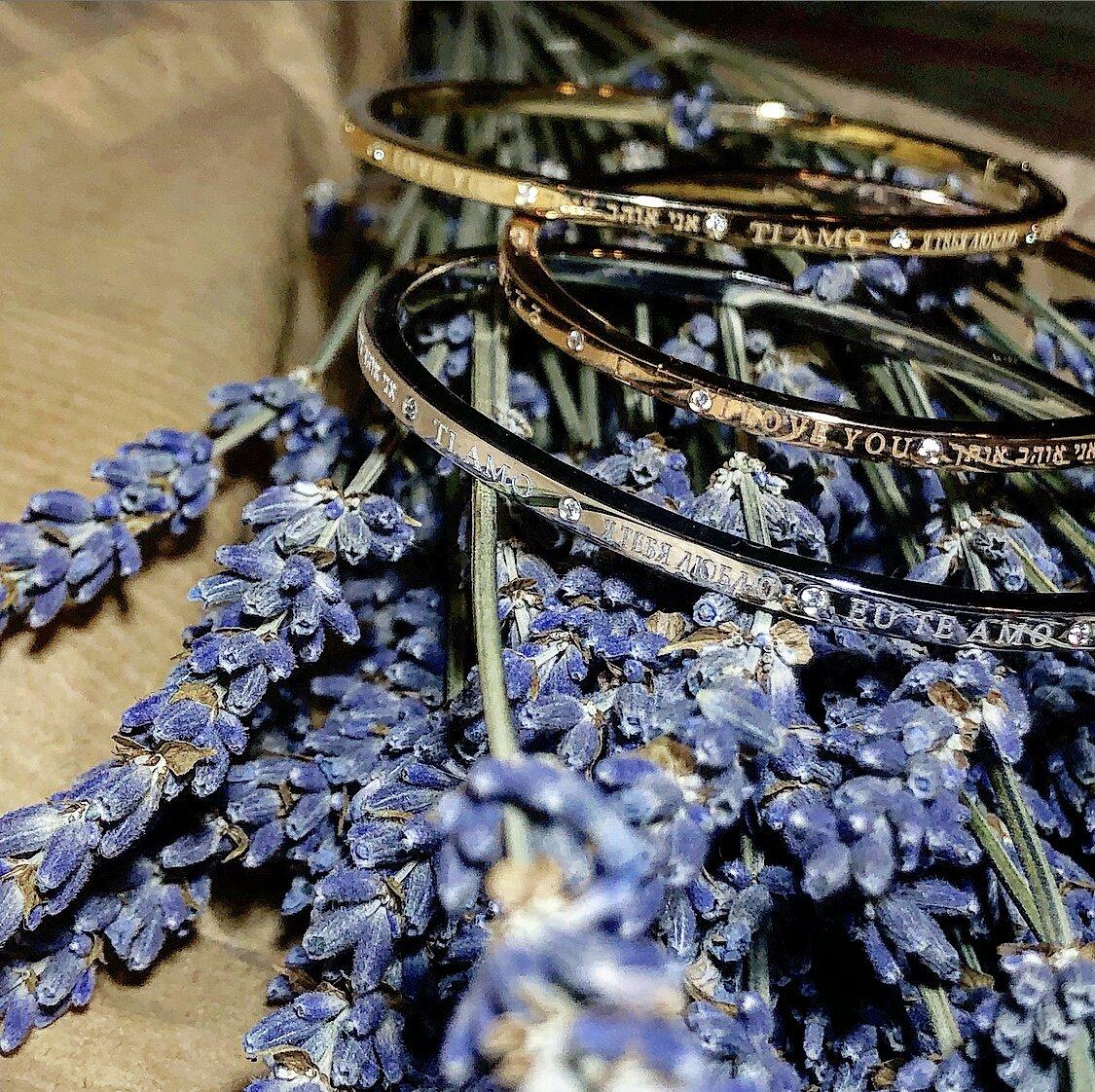 Matthia's & Claire 18K Gold & Diamond Dream Collection 'I Love You' Bracelet, $2,595
