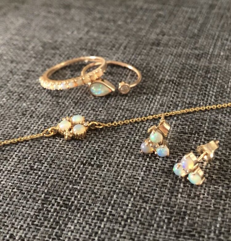 Atelier All Day 14K Gold & Opal Collection, $575-$595