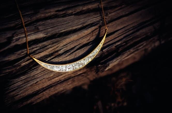 Shana Gulati Jewelry 18K Gold Vermeil and 925 Sterling Silver Thane Necklace with Diamonds, $154
