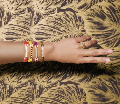 Matthia's & Claire 18K Gold and Diamond Skin Bracelets - Design Your Own, starting at $4,200