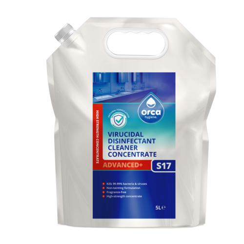Virucidal Surface Disinfectant Cleaner Concentrate 5000ml Pouch