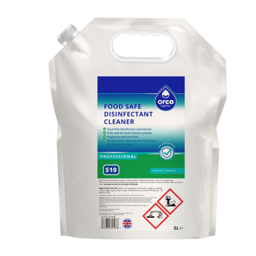 Quat-free Food Safe Disinfectant Cleaner Concentrate 5000ml Pouch
