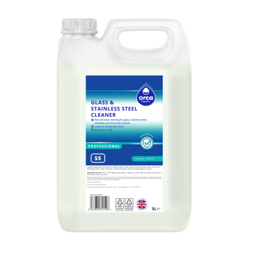 Glass & Stainless Steel Cleaner 5000ml Jerry Can