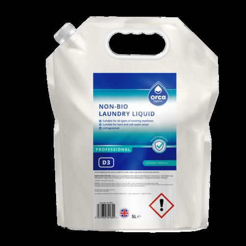 Non-Bio Laundry Liquid 5L Orca-Pouch