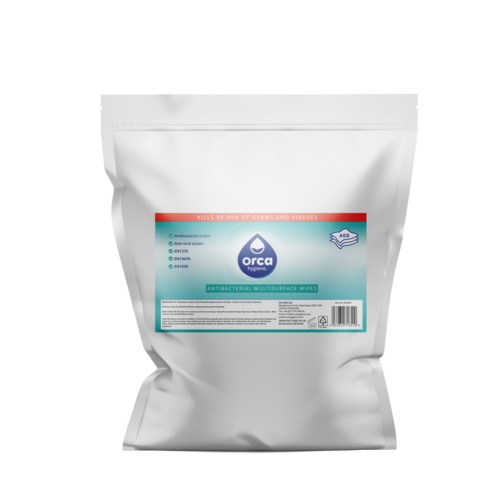 Virucidal Disinfectant Wipes 400 Refill