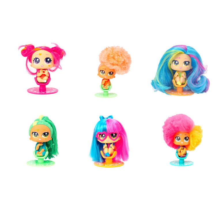 HAIRDOOZ-Collectable Neonz Doll BRAIDY UPDOO GLOW IN THE DARK