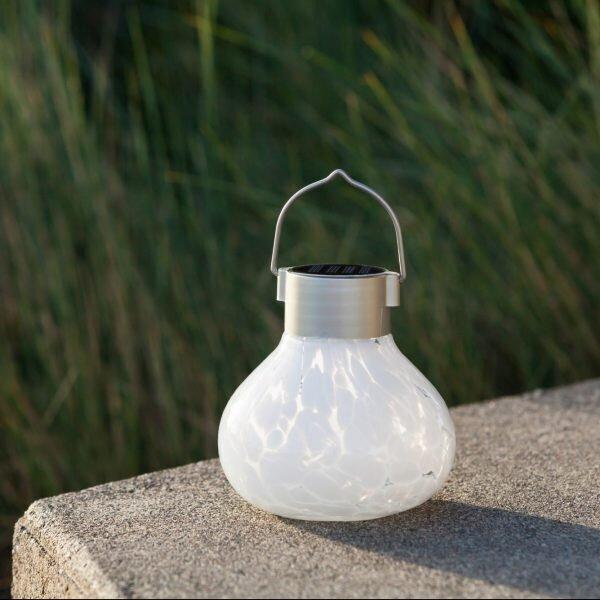 Solar Tea Lantern White By Allsop, Allsop Home And Garden Solar Tea Lantern