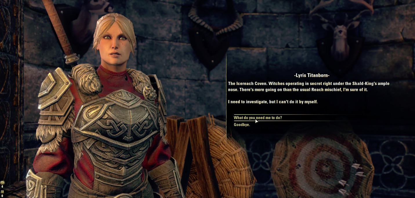 A Story Quest featuring Lyris Titanborn from The 5 Companions.