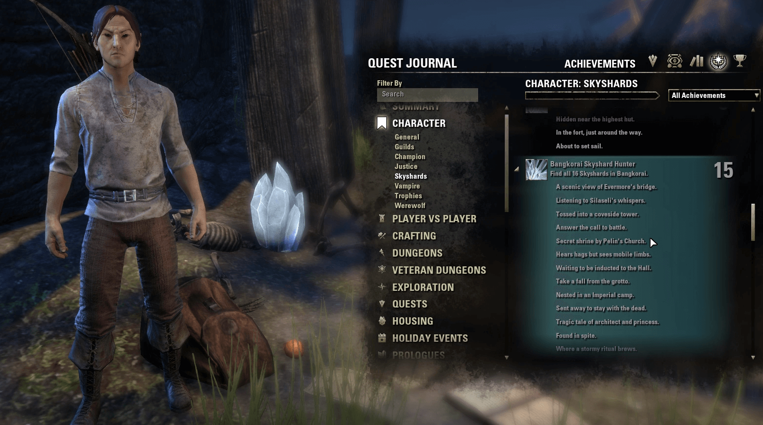 You can track the Skyshards you've already earned in the achievements menu of your journal.