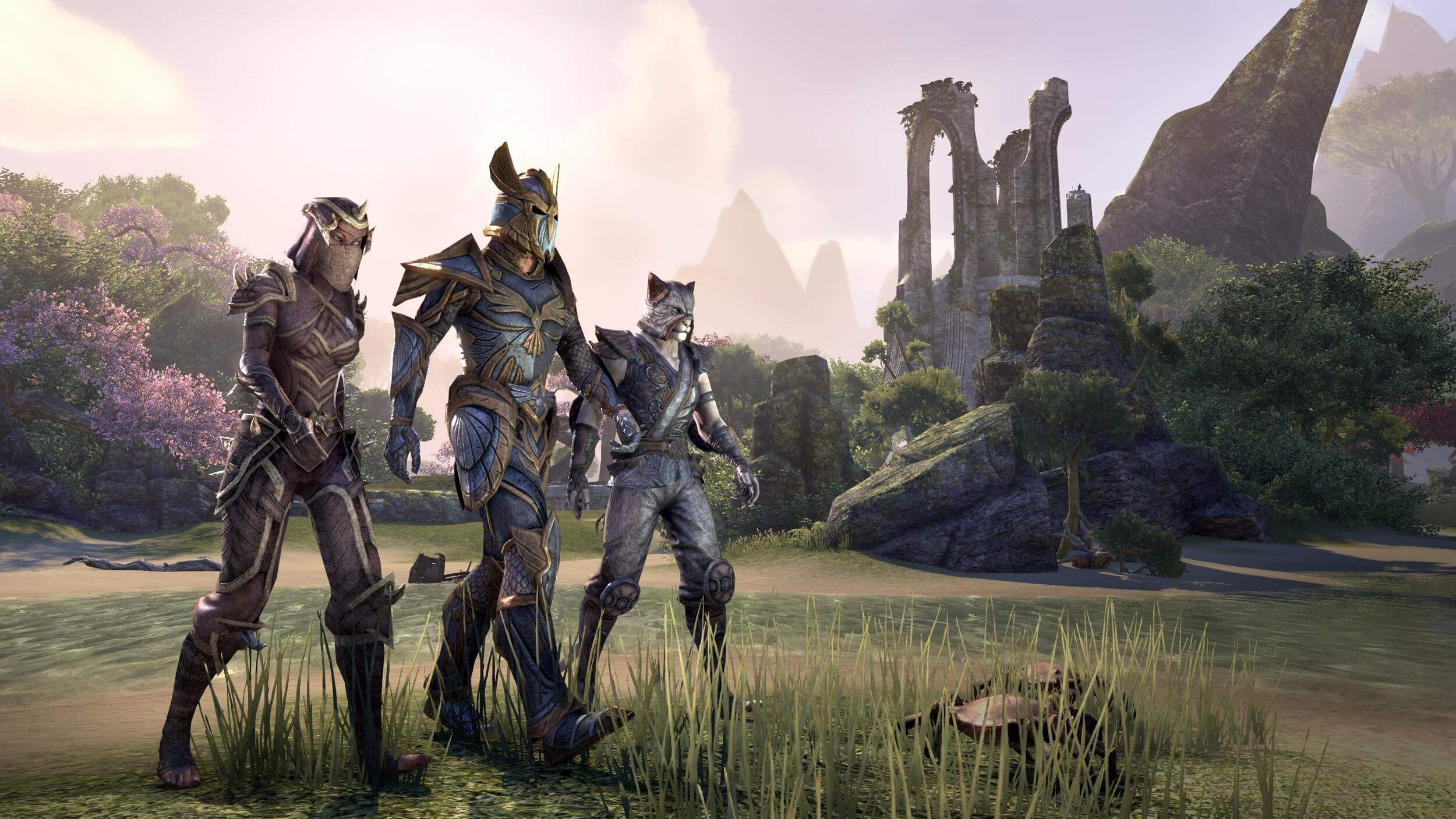 The Aldmeri Dominion includes the races of High Elf, Wood Elf and Khajiit.
