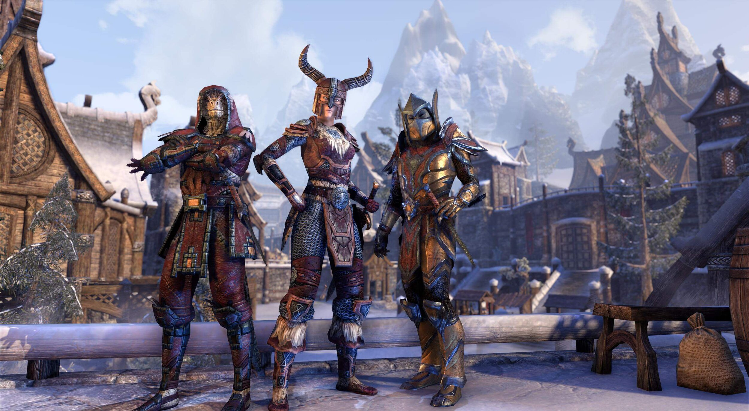 The races of the Ebonheart Pact include Nord, Argonian and Dark Elf.