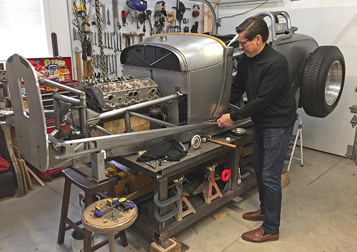 """""""I don't want to just own a car; I want to build one,"""" said owner/designer Larry Erickson."""