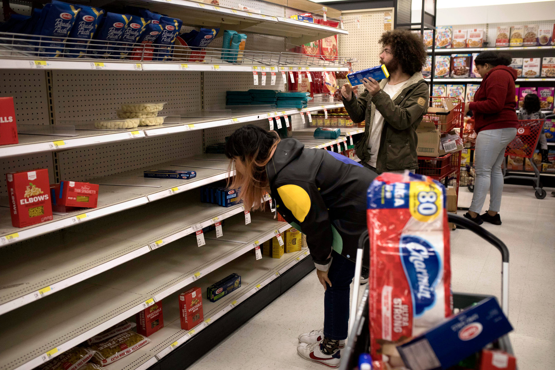 Empty supermarket shelves sends us into a unsettling feeling of panic.