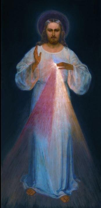 Image credit: Divine Mercy. Painting in Divine Mercy Sanctuary in Vilnius | Eugeniusz Kazimirowski