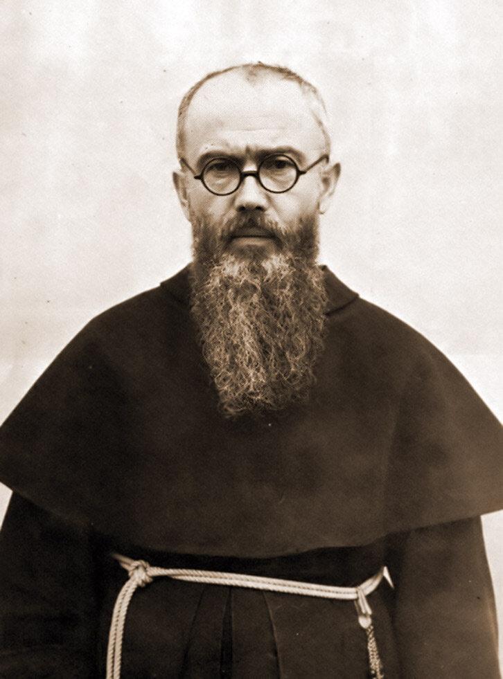 Image credit:  Fr. Kolbe in 1936 via Wikipedia
