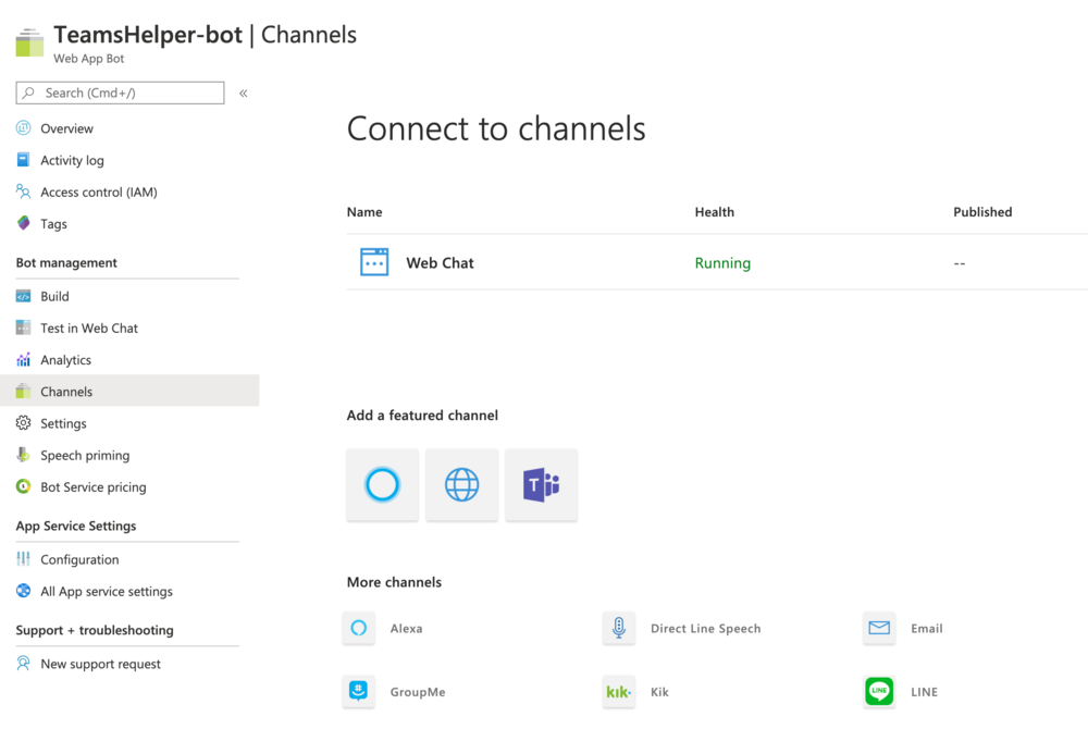 Teams, Connect to channels