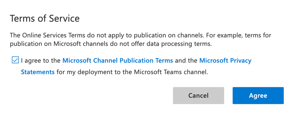 Microsoft Channel Publication Terms