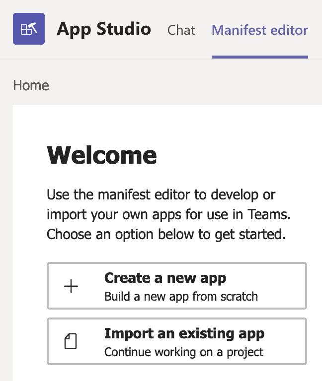 Teams App Studio