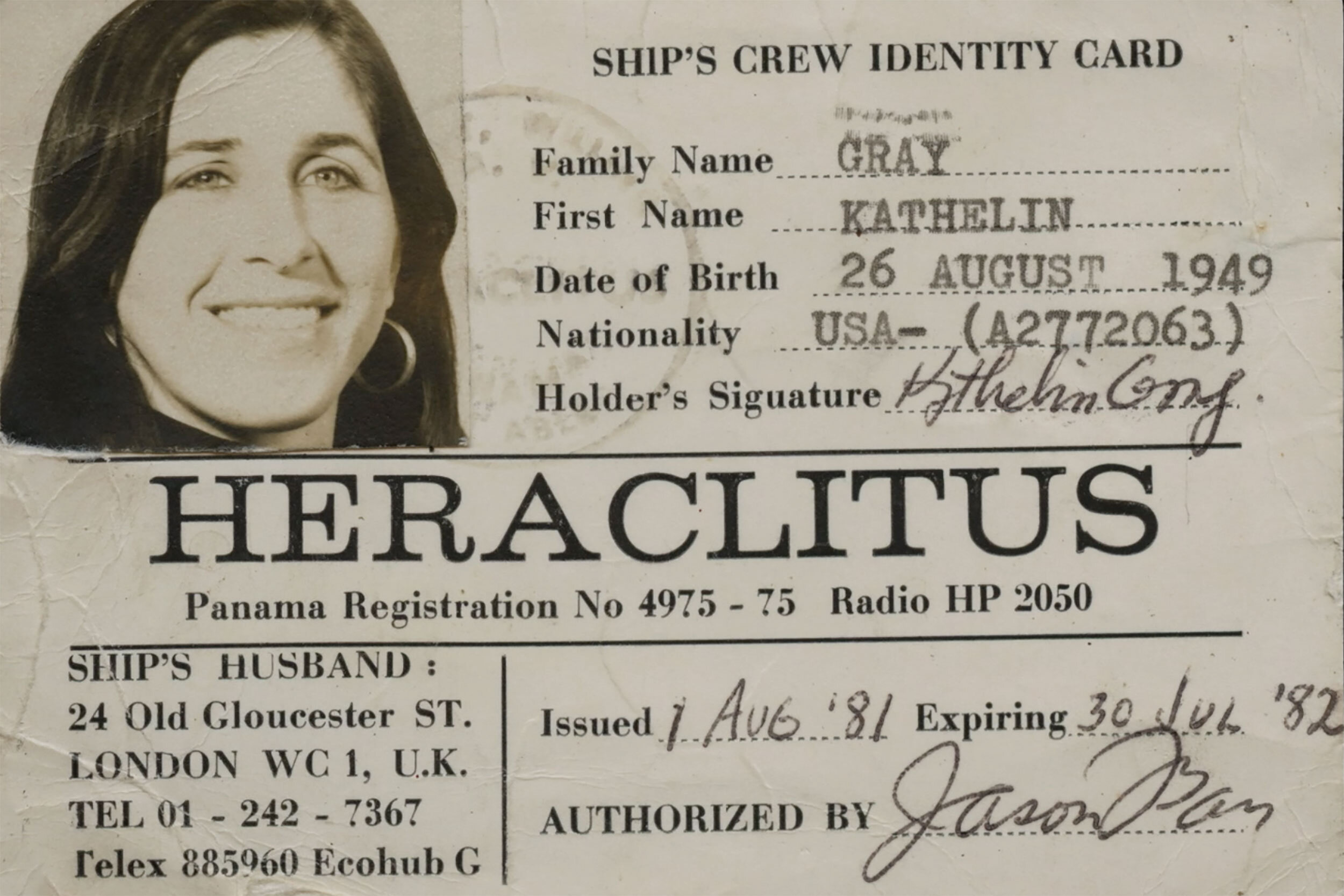 Crew ID card for the Heraclitus
