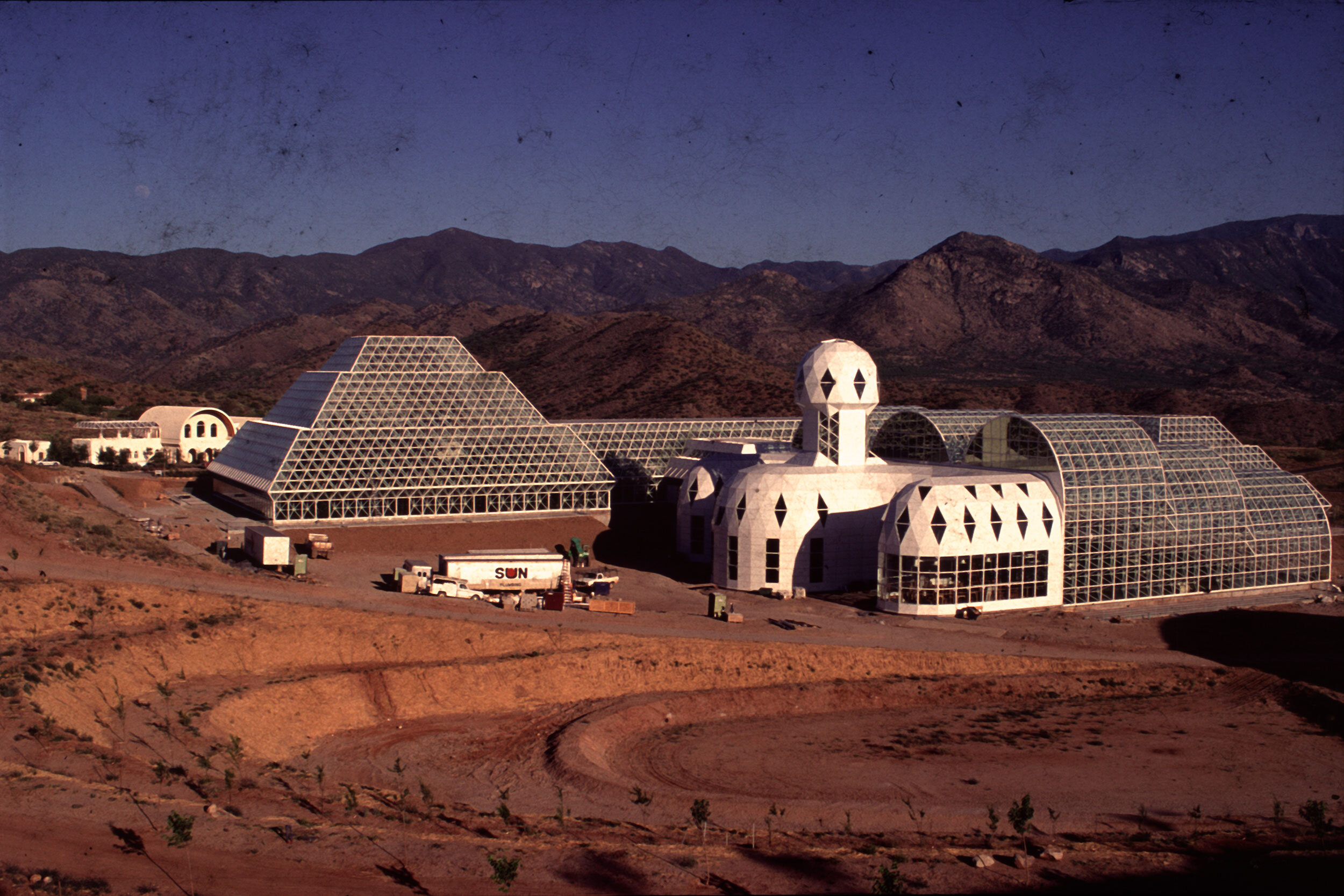 Biosphere 2 under construction