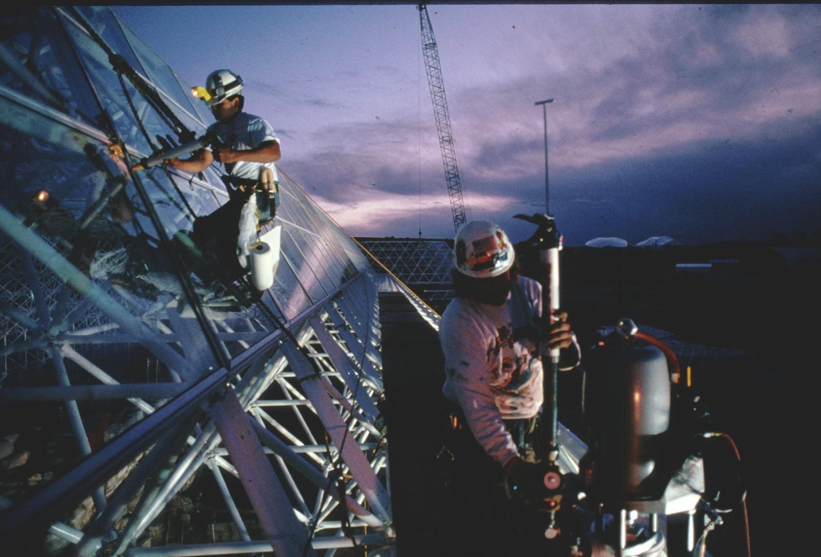 Biosphere 2 construction
