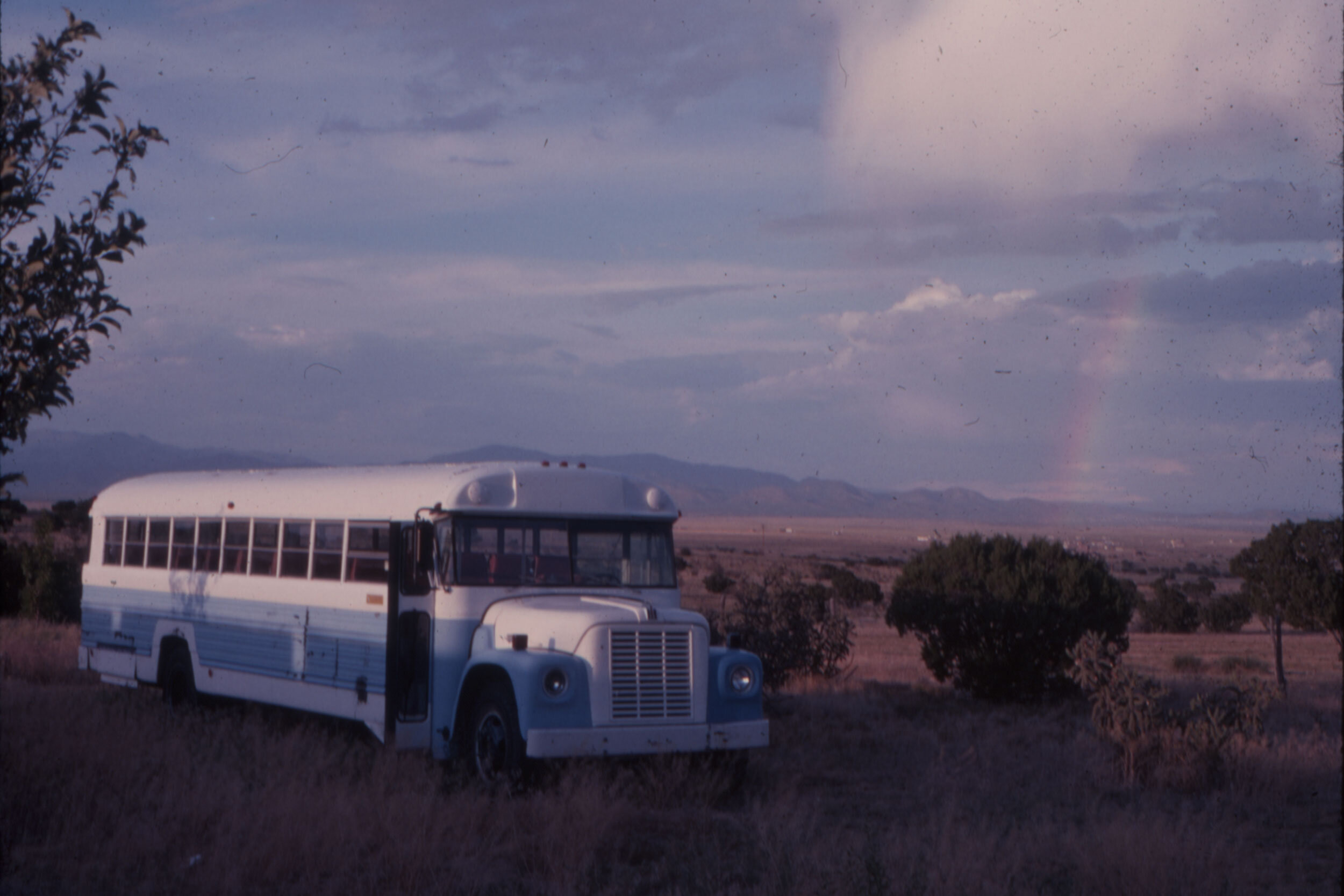 Synergist tour bus on Synergia Ranch