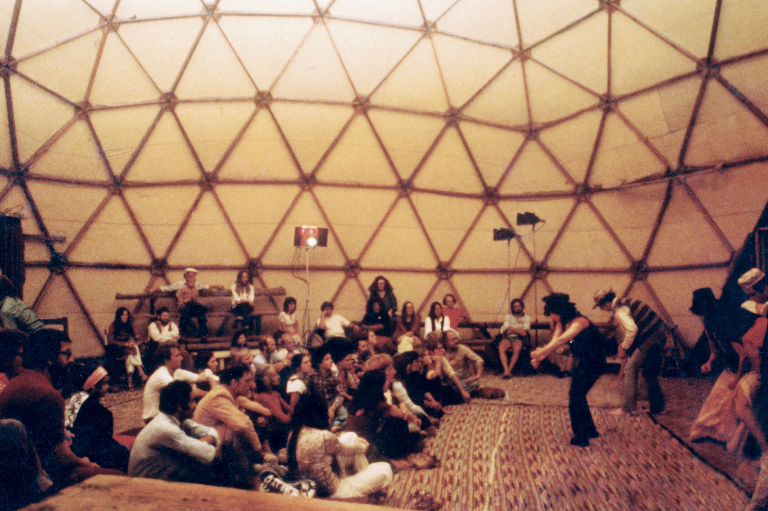 Theater of All Possibilities performance in the geodesic dome