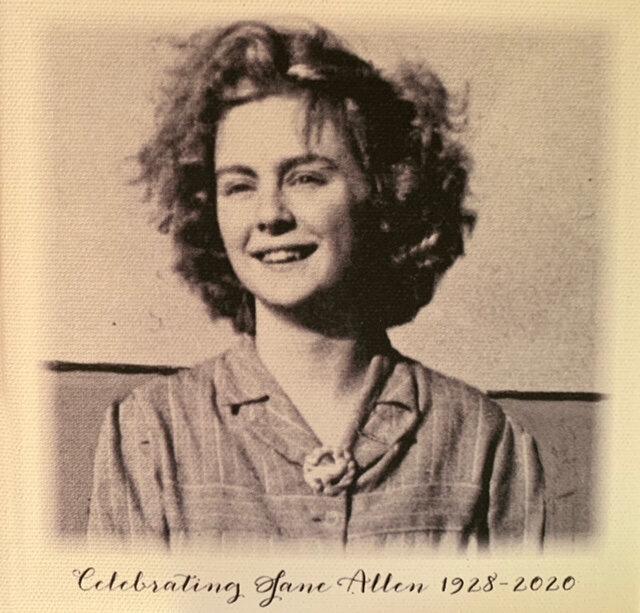 In Loving Memory of - Jane Anne Delphine AllenNovember 27, 1928 - January 27, 2020