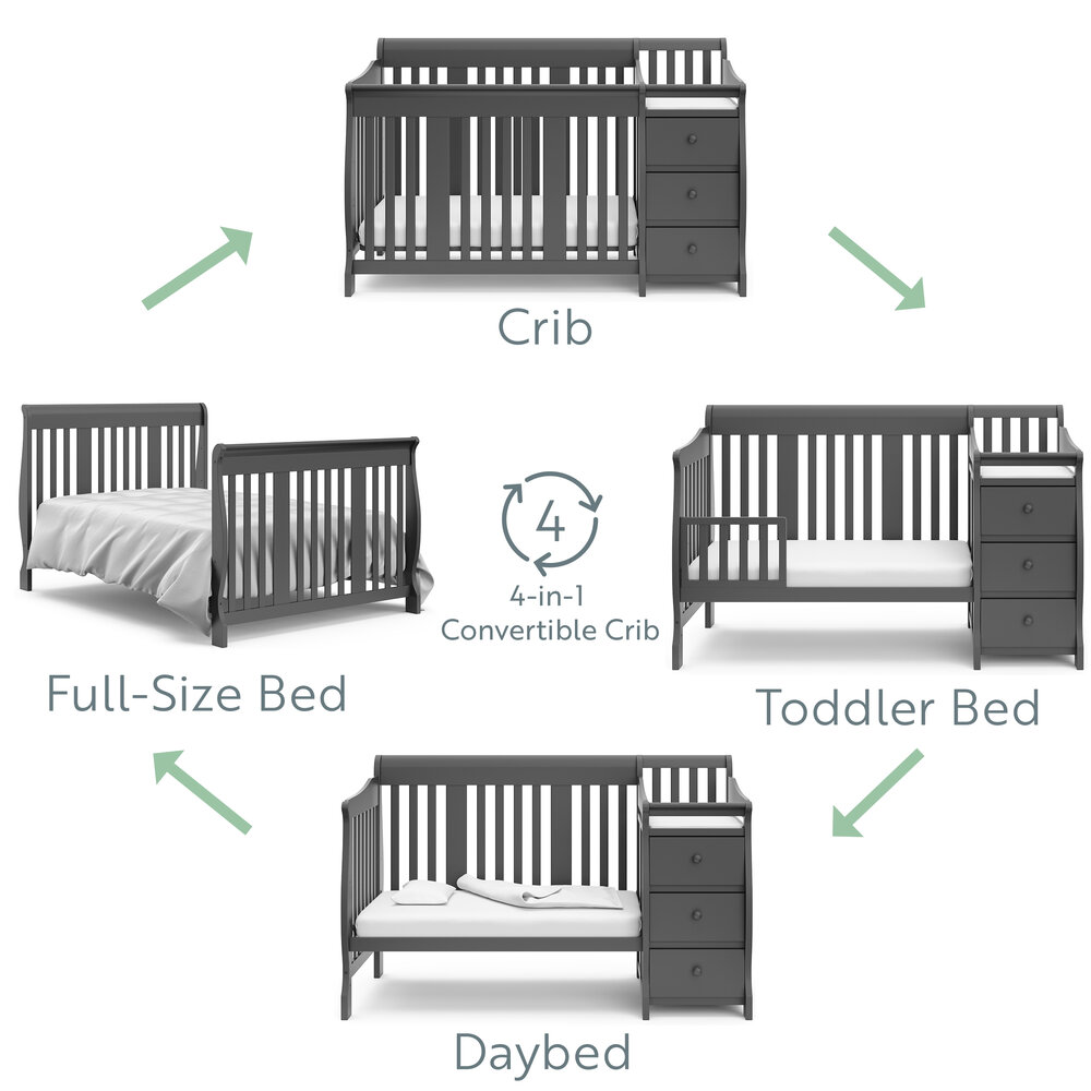 Storkcraft Portofino 4 In 1 Convertible, When To Go From Crib Toddler Bed