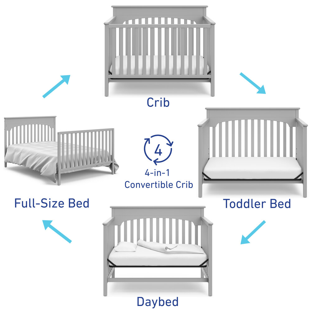 Graco Lauren 4 In 1 Convertible Crib, When To Go From Crib Toddler Bed