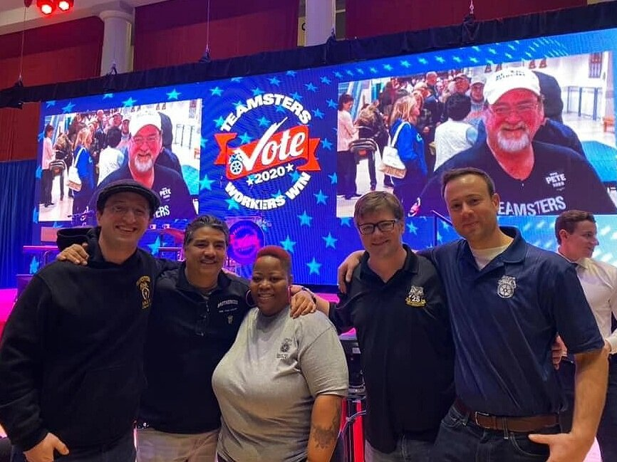 Members of Local 705 at the Teamsters Presidential Forum in 2019.