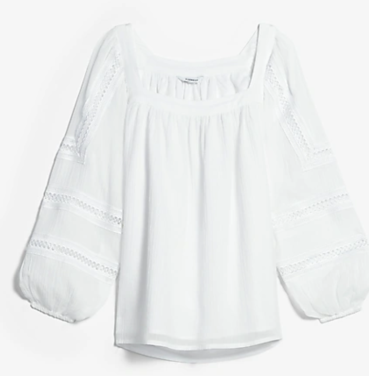 Express   white puff sleeve top