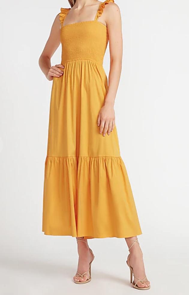 Express  yellow maxi dress