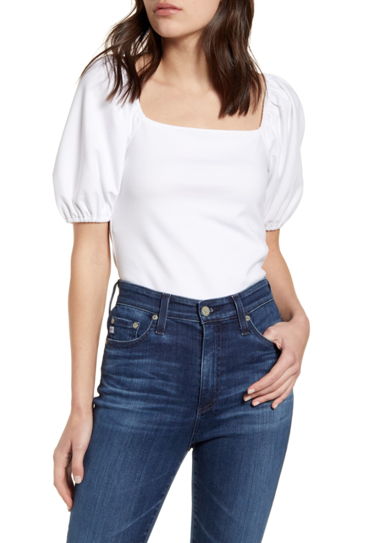 Nordstrom  , Chelsea28 puff sleeve t-shirt