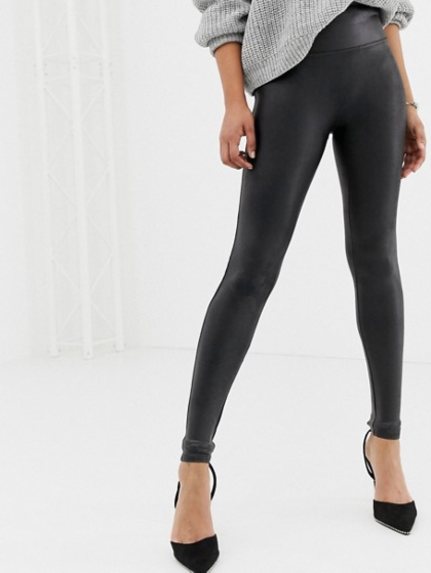 Asos ,   Spanx faux leather leggings