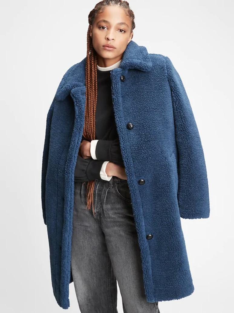 Gap ,  sherpa overcoat