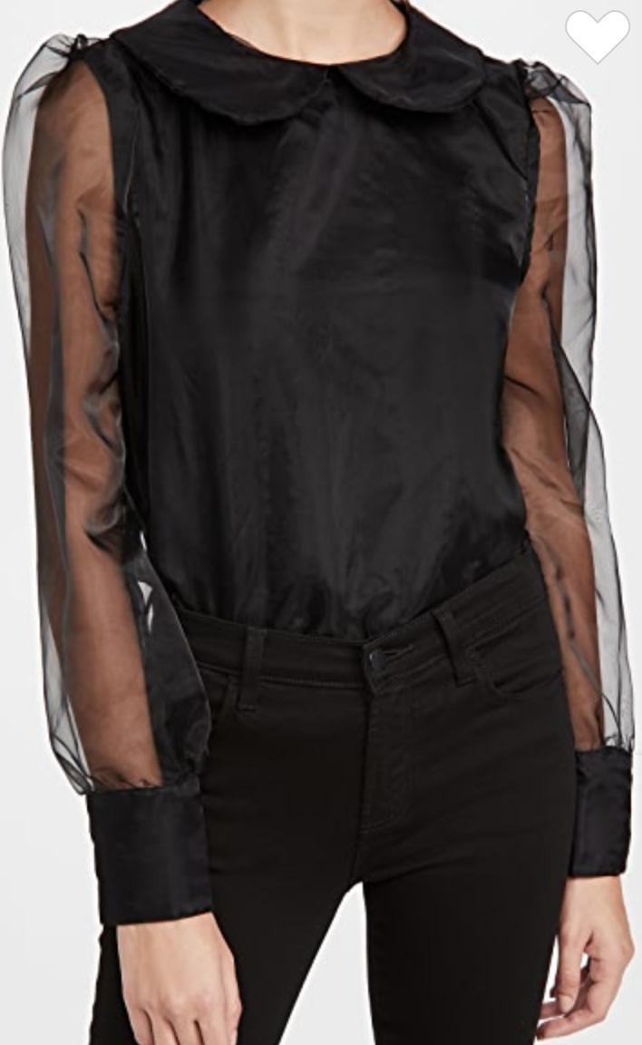 En Saison  organza collared blouse