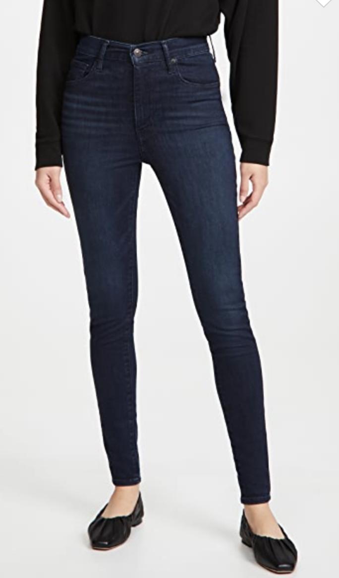 Levis   mile high waist skinny jeans